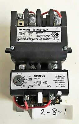 Siemens 14CS+12A with 48ASE1M20 Magnetic Starter