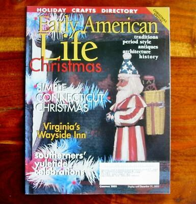 Early American Life Magazine Christmas 2002 Southern Yuletide Hooked Rug