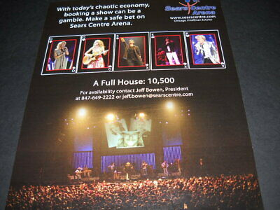 TAYLOR SWIFT Rod Stewart KID ROCK more 2008 SEARS CENTRE ARENA promo poster ad