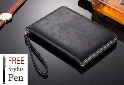 """Genuine Soft Leather Magnetic stand case Cover New Apple Ipad 9.7"""" 2017/2018"""