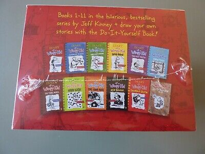 Diary Of a Wimpy Kid Book Box Set Of 12 Collection New/Sealed