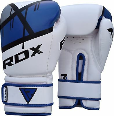 RDX MMA Boxing Gloves Training Maya Hide Muay Thai Fight Punch Bag Wraps 14OZ