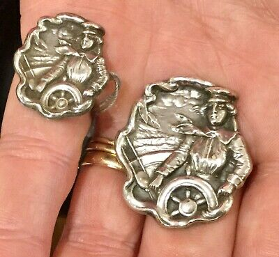 Rare, Antique Sterling Pins Of Eleanor Cressy, The Navigator Of The Flying Cloud