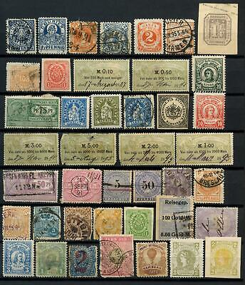 Germany 42 Different Early Local Revenues, Back Of The Book Stamps #D86670