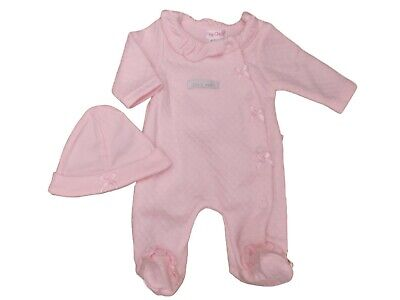BNWT Tiny Premature Preemie Baby girl romper sleepsuit hat clothes 3-5 lb  5-8lb