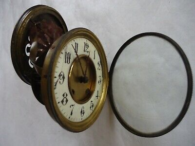Antique A.L.M French Clock Movement. Spares Or Repair.
