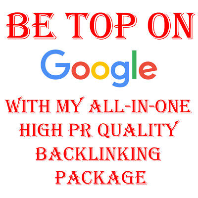 TOP Google Rankings With My All-In-One High PR Quality Backlinking Package