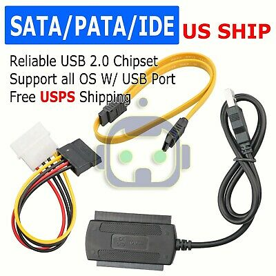 SATA/PATA/IDE 2.5 3.0 to USB 2.0 Cable Serial ATA Adapter For HDD/SSD Hard Drive
