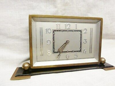 fantastic 1930s art deco mantel desk clock jazz electric age excellent condition