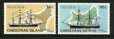 1987 Christmas Island - Centy of Visit by HMS Flying Fish & HMS Egeria (2)  MUH