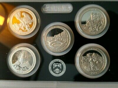 2012 United States Mint America the Beautiful Quarters Silver Proof Set