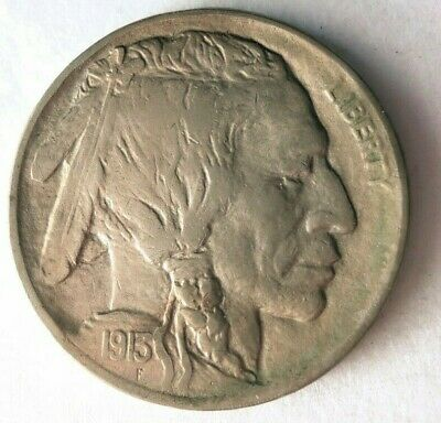 1913 UNITED STATES 5 CENTS - AU - Type 1 - Buffalo Nickel Coin - Lot #315