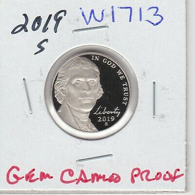Kappys W1713 2019S Superb  Gem Cameo Proof Jefferson Nickel Free Shipping