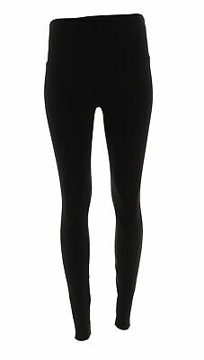 398cc839168f7f LYSSE Smoothing Stretch Solid Ponte Stretch Pant Side Seam BLACK 2X NEW  554-269
