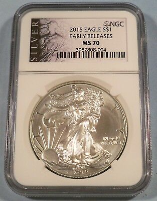 2015 Ngc Ms70 American Silver Eagle Early Releases Ms 70