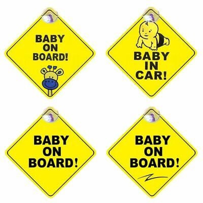 1x Baby On Board Safety Car Sign Sticker Window Badge Baby In Car Vogue Special