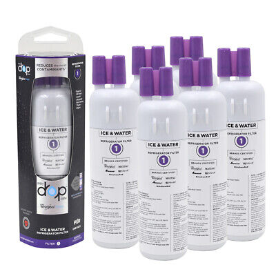 1-6PCS EveryDrop 1 EDR1RXD1 Whirlpool W10295370A Refrigerator Water Filter