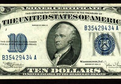 $10 1934C Silver Certificates ** MORE CURRENCY FOR SALE ALL MONTH **