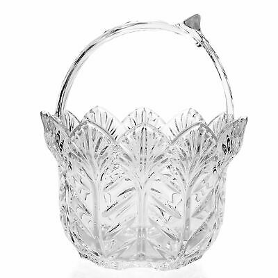 """Marquis by Waterford Malden 8"""" Wedge Cut Scalloped Edge Crystal Basket"""