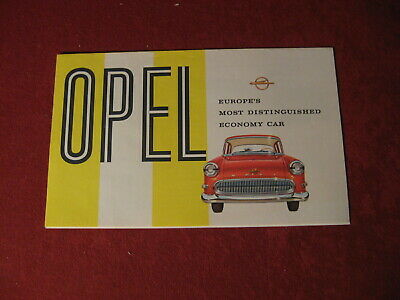 1958 Buick Opel Showroom Dealership Sales Brochure Original Old GM Catalog