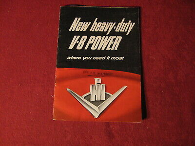 1950's? IH Tractor Truck Semi Sales Brochure Old Booklet Original Catalog Book