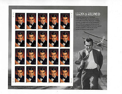 #3692 37c CARY GRANT Legends of Hollywood  full MINT SHEET OF 20