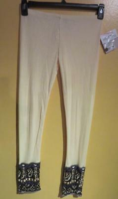 NWT Jak and Peppar Girl Clothing Leggings Pants Cream Fall Winter Size 14 Cotton