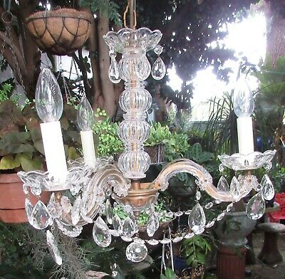 Stunning Vintage 3 Light Branch Arm Maria Theresa  Chandelier