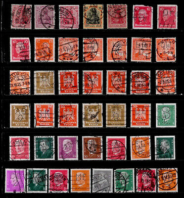 Germany: Classic Era Stamp Collection Perfins
