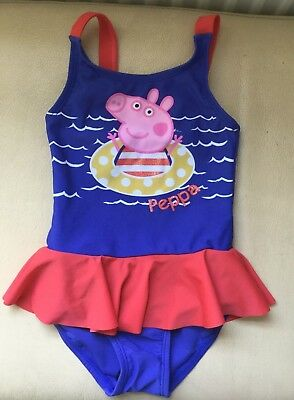 Peppa Pig Girls Swimming Costume 18 24 months BNWOT Holiday New Frill Beach