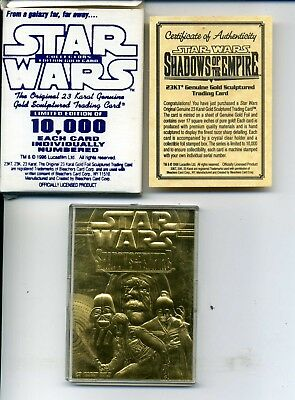 Star Wars  23 Karat Gold Card Shadows Of The Empire Limited Edition Of 10,000