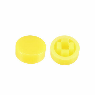20Pcs Pushbutton Tactile Switch Caps Cover Keycaps Yellow f 6x6x7.3mm TactSwitch