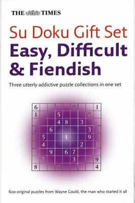 The Times Su Doku Giftset: Easy, Difficult, Fiendish,Wayne Gould