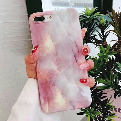 Slim Fit Marble Pattern Case Soft TPU Protective Phone Covers For iPhone X