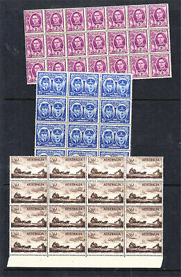 5 X Mint Unhinged Blocks 12 To 35 See Desc (A23)