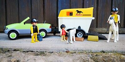 Playmobil Lot Équitation, Voiture Remorque Cheval Poney, Country