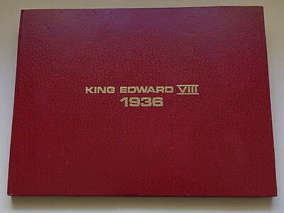 King Edward VIII - (1936) Folder with capsules to hold 12 Fantasy Crowns
