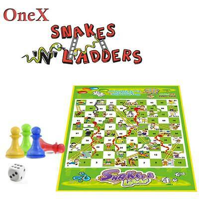 Mini Ludo Snakes & Ladders Game Traditional Family Game Preschool