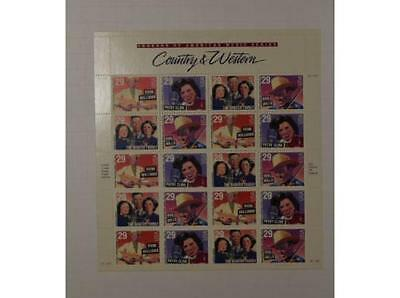 Us Scott 2771 - 74 Pane Of 20 Country & Western Stamps 29 Cent Face  Mnh