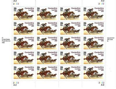 Us Scott 2754 Pane Of 20 Cherokee Strip Stamps 29 Cent Face Mnh