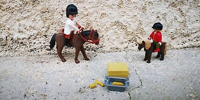 Playmobil, Balade d'une Maman et sa fille avec cheval, poney, Playmobil country