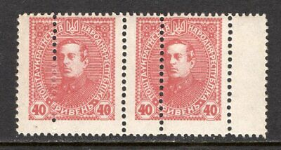 UKRAINE 1918 - pair 40G with Double perforation - MNH