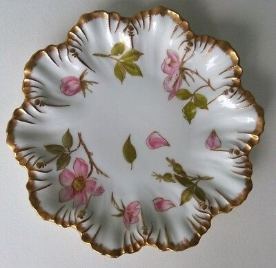 A. Lanternier - Fine Antique French Limoges Hand Painted Scalloped Plate