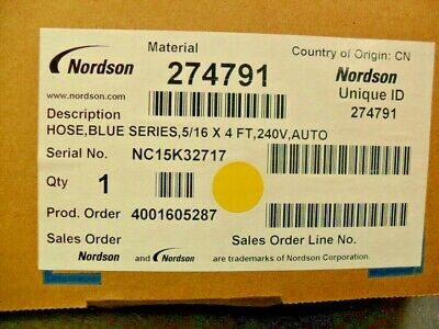 Nordson 274791 Tuyau Hot Melt Pointe