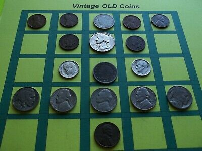 Estate Lot of Old Coins 50 to 125 Years Old with Some Silver  16 Coins  (OC5)