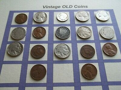 Estate Lot of Old Coins 50 to 125 Years Old with Some Silver  17 Coins  (OC14)