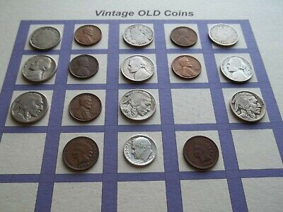 Estate Lot of Old Coins 50 to 125 Years Old with Some Silver  17 Coins  (OC15)