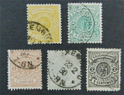 nystamps Luxembourg Stamp # 29-33 Used $94