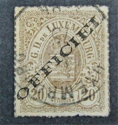 nystamps Luxembourg Stamp # O5 Used $58