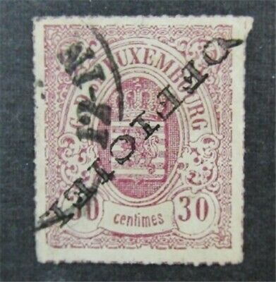 nystamps Luxembourg Stamp # O8a Used $925